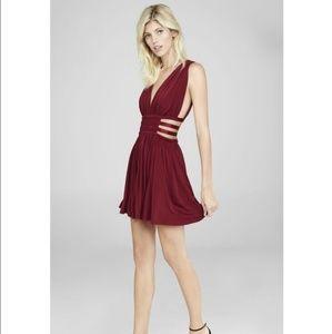 Express Red Grecian Dress
